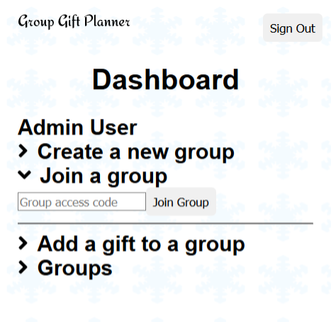 Group Gift Planner