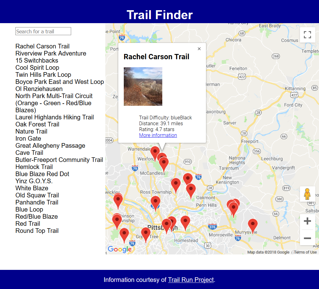 Trail Finder App